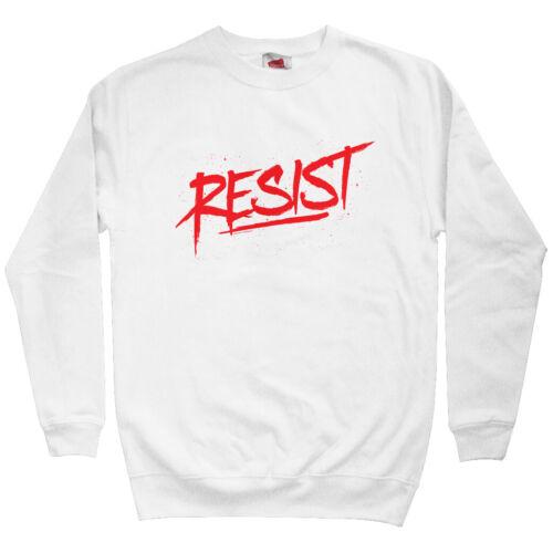 Crewneck S-3X Resist Scrawled Men/'s Sweatshirt Gift Political Graffiti Tag