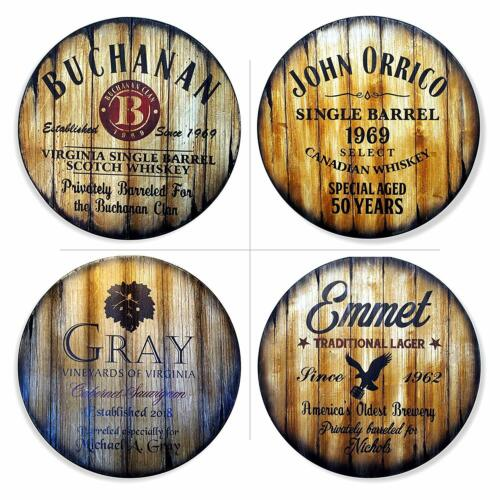 Personalized Round Table Top Size 24/'/' or 30/'/' Handmade Custom Artwork on Wood