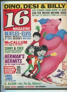 16-Magazine-Feb-1966-Vol-7-9-VG-Herman-039-s-Hermits-Peter-amp-Gordon-Animals-MBX92