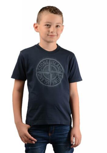 Stone Island Juniors 21054 Kids T-Shirt in Navy