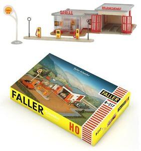 Faller-h0-109217-b-217-SHELL-Station-Service-Neuf-neuf-dans-sa-boite