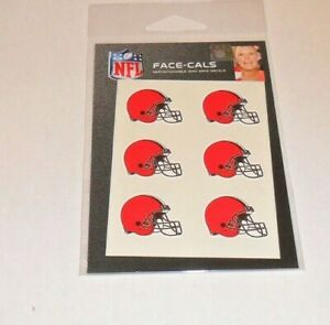 CLEVELAND-BROWNS-6-TEMPORARY-FACE-TATTOOS-FACE-CALS-FAST-FREE-SHIPPING