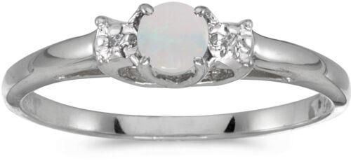 10k or Blanc Ronde Opale et Diamant CM-RM1575W-10
