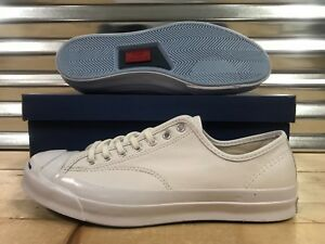 57fb1d33d2ce Converse Jack Purcell JP Signature Ox Shoes Triple White Blue SZ ...
