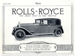 Rolls Royce Ltd London The Best Car In The World Historische