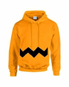 SNOOPY CHARLIE BROWN Yellow Adults Funny cartoon unisex Hoodie ...