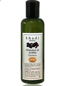 KHADI Herbal SHIKAKAI AND ARITHA SHAMPOO Herbal Natural Formulation 200ml UK USA