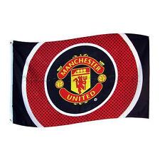 Manchester United FC Official Bullseye Football Crest Flag
