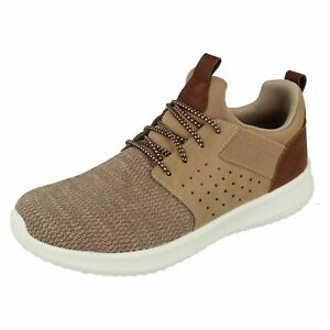SKECHERS MEN'S TAUPE Classic & Wide Fit