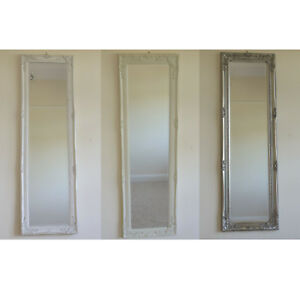 Antique-Style-Full-Length-Wall-Mirror-Long-Wooden-Bathroom-Bedroom-Hallway-Decor