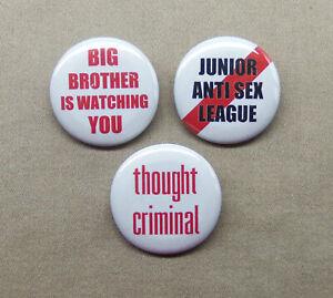 1984-3-Button-Set-1-25-Big-Brother-is-Watching-U-Thought-Criminal-Jr-Anti-Sex