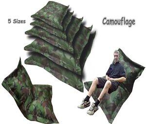 Kids-amp-Adults-Camouflage-Lounger-Bag-Camo-Beanbag-Army-Bean-Bags-Cushion-Pillow