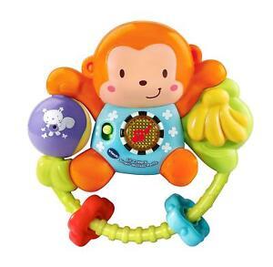 NEW-VTECH-BABY-LITTLE-FRIENDLIES-SWING-amp-SHAKE-MONKEY-RATTLE-508303