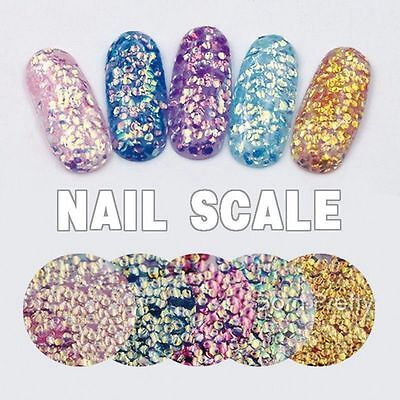 Beauty DIY Shining Scales Manicure Decoration Nail Art Sequins Glitter Tips