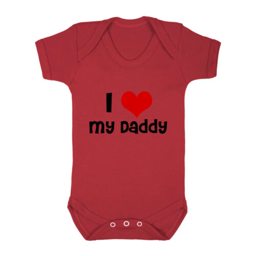 I Love My Daddy Cotton Baby Bodysuit One Piece