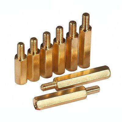 10x Hex Brass Screw Desktop Case Motherboard Standoff Riser Female-Male M3 *6+6