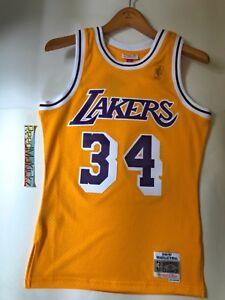 Shaquille O Neal LA Lakers Mitchell Ness 1996-97 HWC Swingman Jersey ... 393f9574d