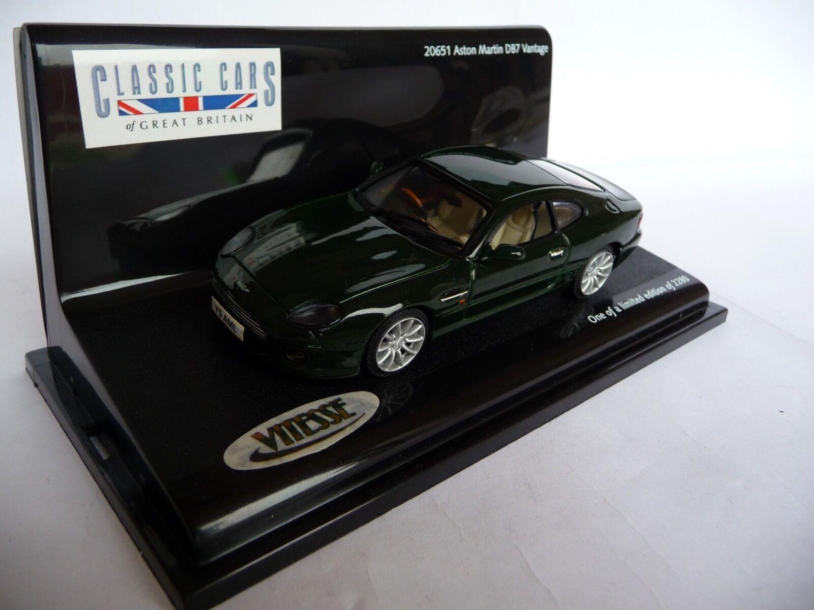 Vitesse 1 43 Aston Martin DB7 Vantage British Racing vert VIT20651