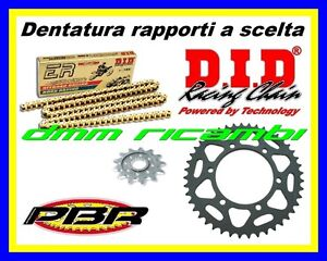 Kit-Trasmissione-Racing-520-YAMAHA-YZF-R6-600-99-corona-catena-DID-ERV3-PBR-1999