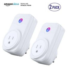 2X Smart Wi-Fi Socket Switch US Plug Outlet Energy Saving Work with Amazon Alexa