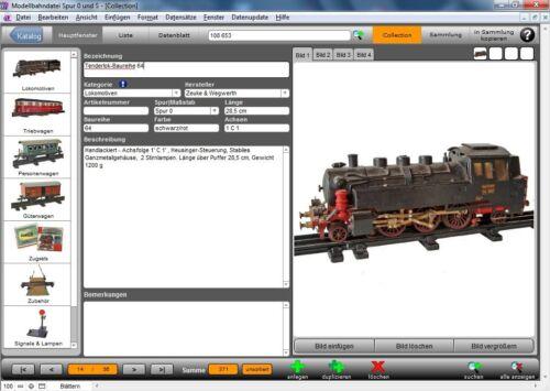 Modellbahndatei Spur 0 und S Datenbank Zeuke /& Wegwerth und Liebmann Stadtilm