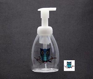 SOAP-FOAM-OVAL-DISPENSER-10oz-PLASTIC-w-DESIGN-REFILLABLE-QUALITY-PUMP-FREE-SHIP