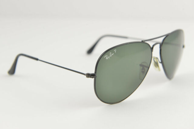 ea913119d26 Ray-Ban sunglasses RB3025 AVIATOR LARGE METAL 002 58 58-14 Black polarized