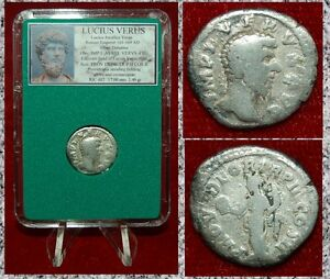Roman-Empire-Coin-LUCIUS-VERUS-Providentia-On-Reverse-Silver-Denarius