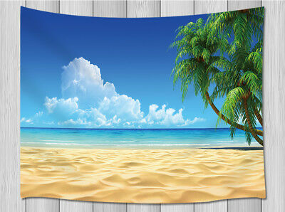 Palm Tree Beach Tapestry