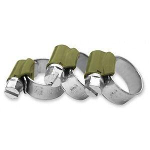 4-Stuck-Schlauchschellen-Schneckengewinde-verzinkt-32-50mm-1-1-4-034-bis-2-034-Zoll