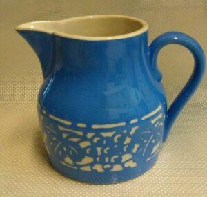 Details Sur Vintage Villeroy Boch Dresden Saxe Concord Bleu Et Blanc Art Deco Pitcher Afficher Le Titre D Origine