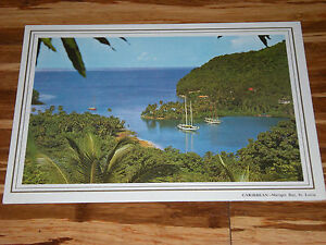 St Lucia Pan Am Airlines Old Menu Caribbean Island Air Plane SMOKING OK .25 PACK