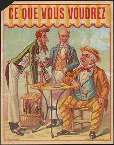 Que Vous Voudrez likör etikett - étiquette ce que vous voudrez / liqueur label ~1900