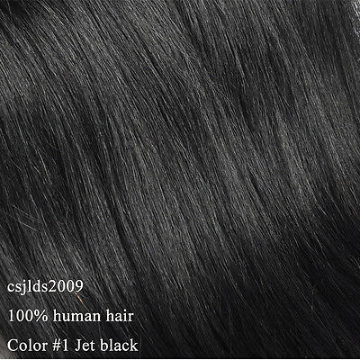 """Full Head One Piece Clip In 100% Remy Human Hair Extensions Hair pieces 100g 16"""""""
