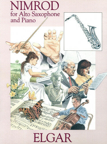 NM573 Nimrod Sir Edward Elgar Alto // Baritone Saxophone /& Piano