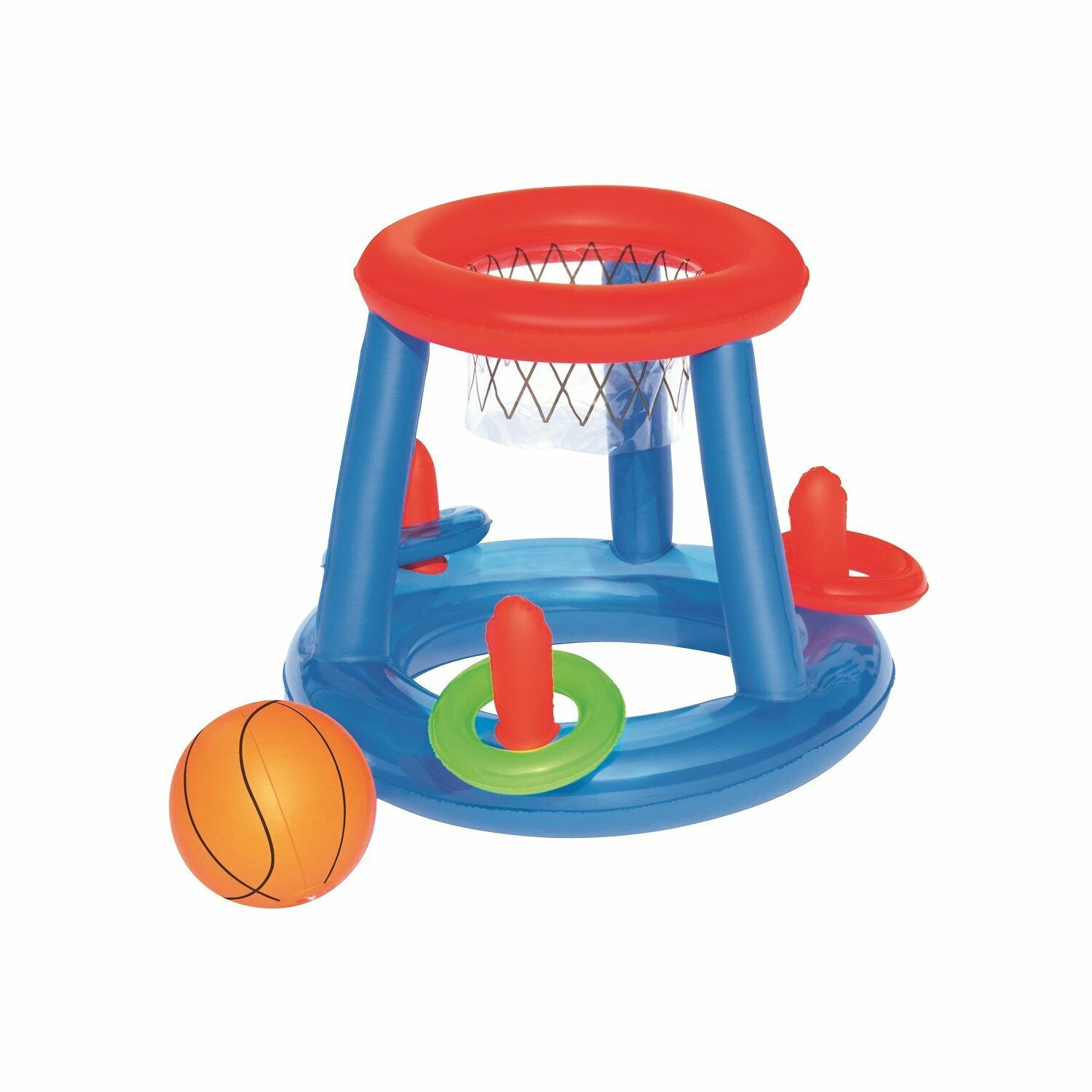 H2OGO! Pool Play Game Center Inflatable Water Floating Basketball Ring Toss Set