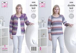 be7e053b630a Womens Knitting Pattern Ladies Raglan Sleeve Cardigan   Top King ...