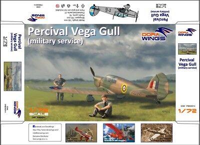 "with P.E parts 1:72 Dora Wings #72004 Percival Vega Gull /""Military Service/"""