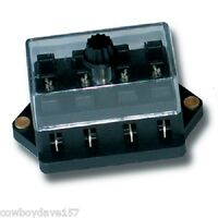 Fuse Block With Cover Accepts 4 Ato/atc Fuses 4 Gang