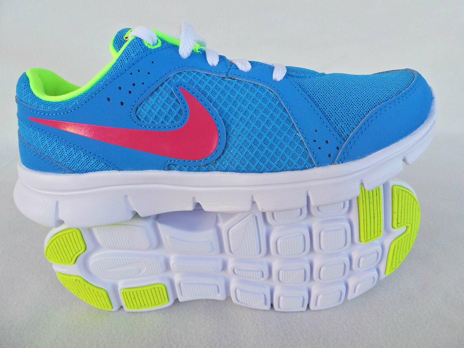 NIKE SNEAKERS LADIES GIRLS FITNESS FLEX Jogging shoes Light bluee Size 36 37 38, 5