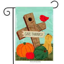 """Give Thanks Indian Corn Garden Flag 13/"""" X 18/"""" by Carson Two Sided Beautiful"""