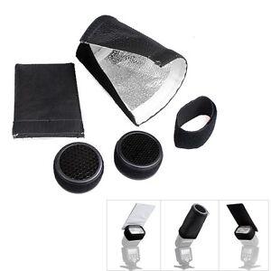 Small-Flash-Adapter-Kit-Conical-Snoot-Honey-Comb-for-NIKON-SB900-SB800-SB600