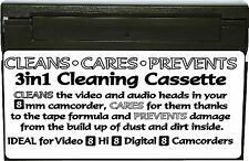 8mm Camcorder Video Hi Digital 8 Dry Head Cleaner Care Prevention Cassette Tape