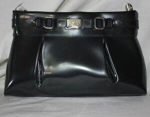 Beijo-Classic-Purse-Lady-Like-Bag-Charcoal-Gray-Handbag-Convertible-Clutch-Strap