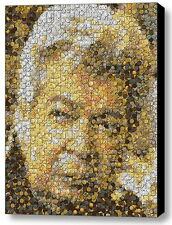 Amazing Framed Pawn Stars Old Man Gold and Silver Coin mosaic print LE