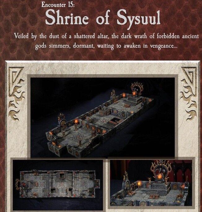 Dvärven Forge SHRINE OF SYSUUL Dungeons of Doom 2018 - Målade - magneter D &D brickor