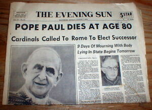 Image result for pope paul iv dies