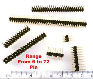 Basetta-Pin-Doppio-Linee-Dil-2-54mm-Distanza-Placcato-Oro