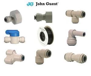John-Guest-1-4-034-Filtro-Acqua-Montaggio-Spinta-Rubinetto-Connettori-filtro-NERO