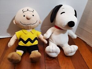 Peanuts Charlie Brown and Snoopy Small Plush Kohls Cares Stuffed Dolls